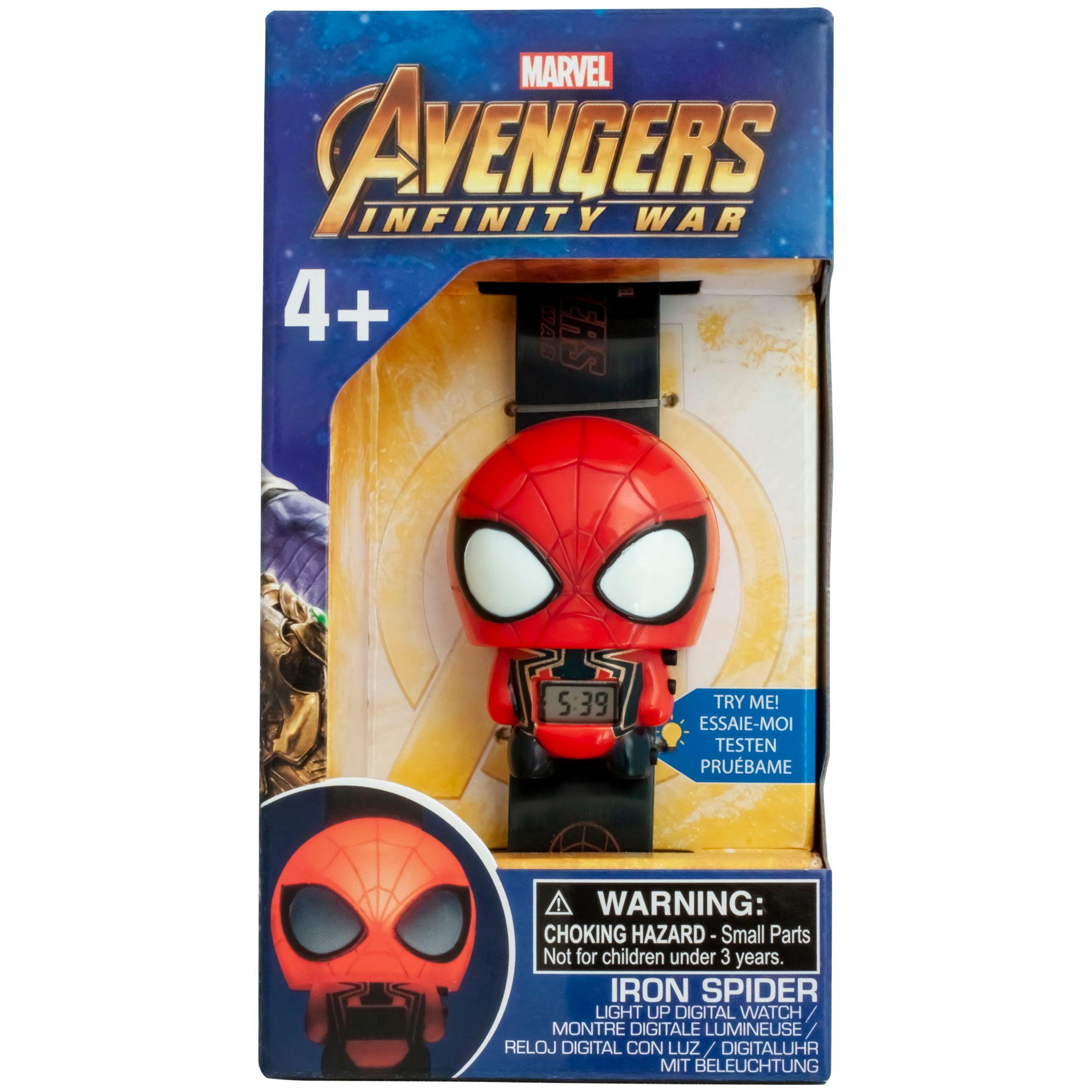 334c39c398a8 BulbBotz Marvel Avengers  Infinity War Iron Spider Light-Up Watch at John  Lewis   Partners