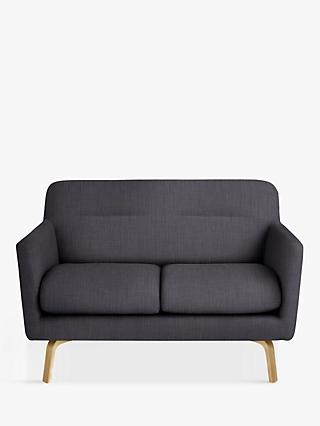 House by John Lewis Archie Small 2 Seater Sofa, Glyn Charcoal