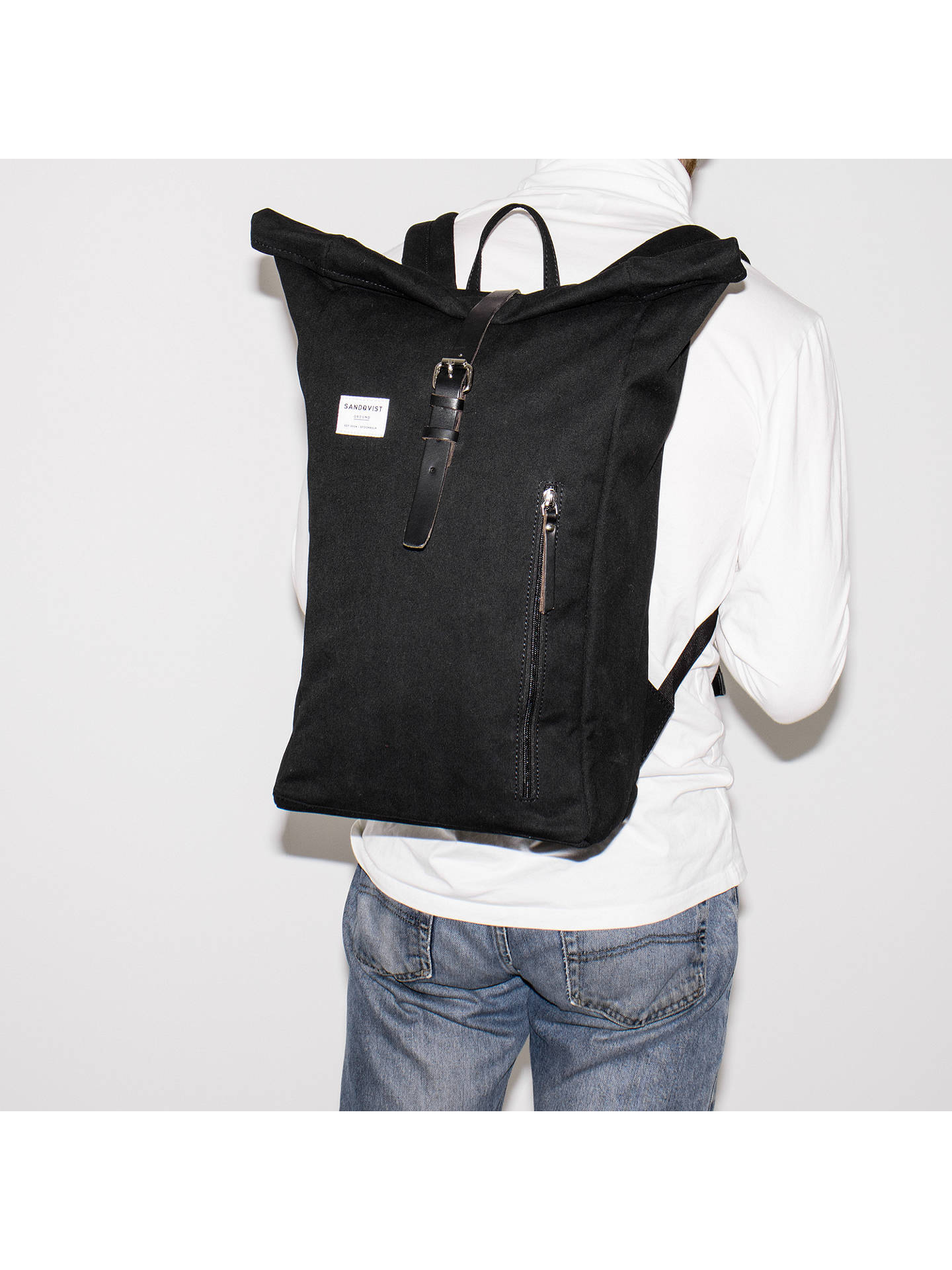 Buy Sandqvist Dante Ground Backpack, Black Online at johnlewis.com