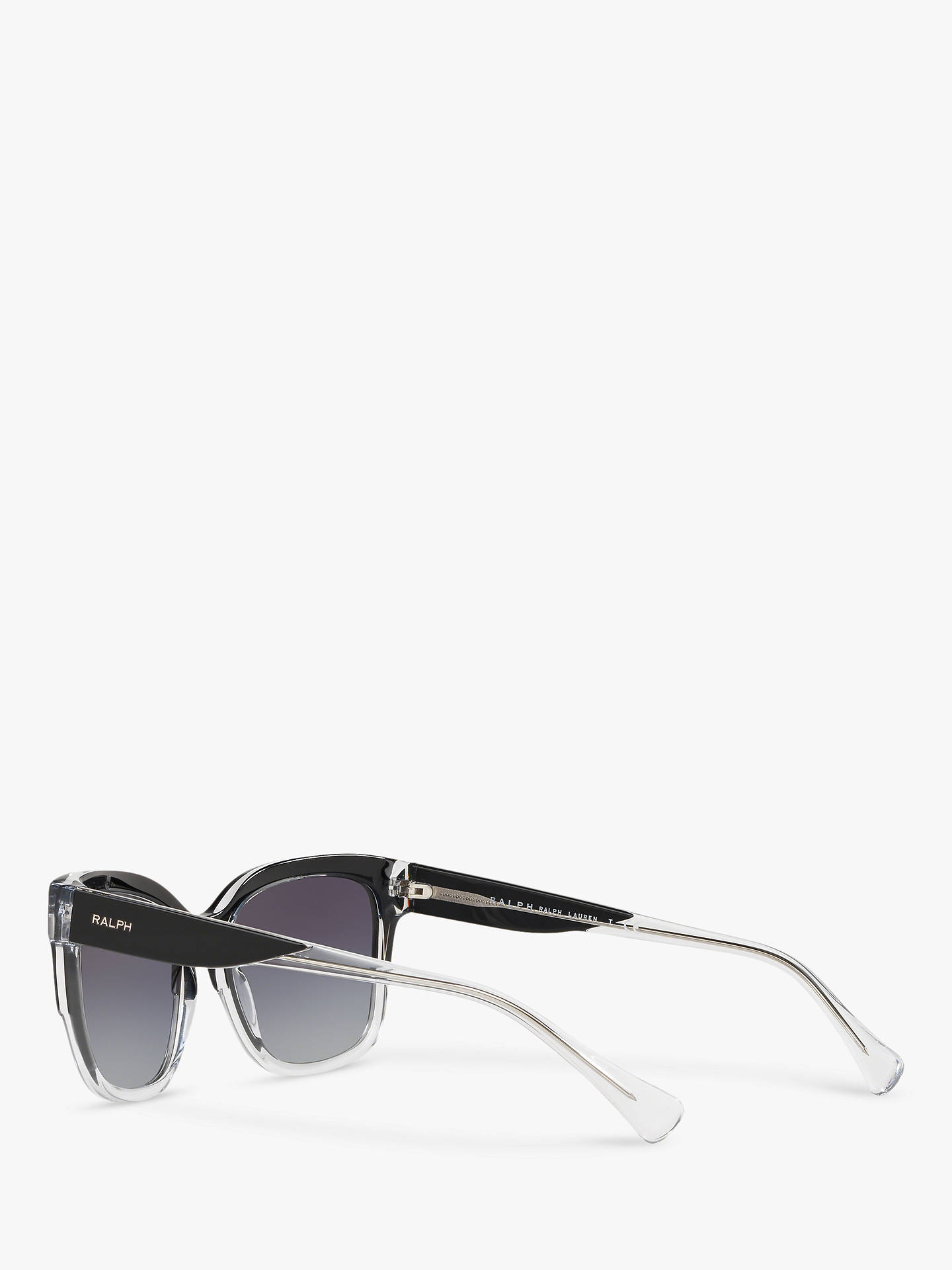 BuyRalph RA5247 Women's Square Sunglasses, Black Clear/Grey Gradient Online at johnlewis.com