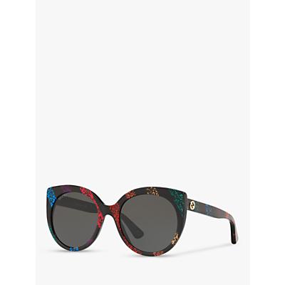 Gucci GG0325S Women's Cat's Eye Sunglasses, Multi/Grey