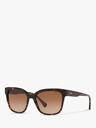 Ralph RA5247 Women's Square Sunglasses, Tortoise/Brown Gradient