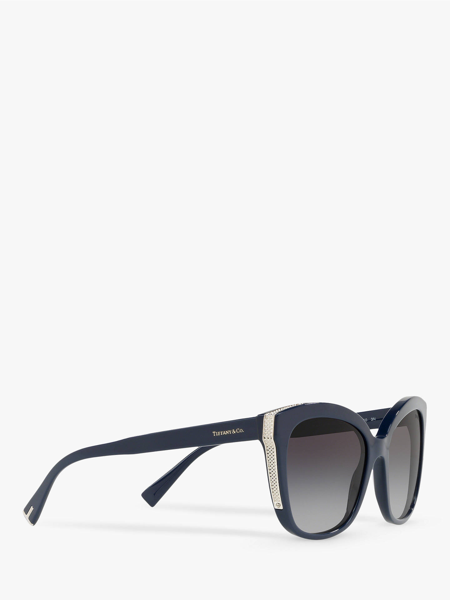 Buy Tiffany & Co TF4150 Women's Embellished Square Sunglasses, Blue/Grey Gradient Online at johnlewis.com