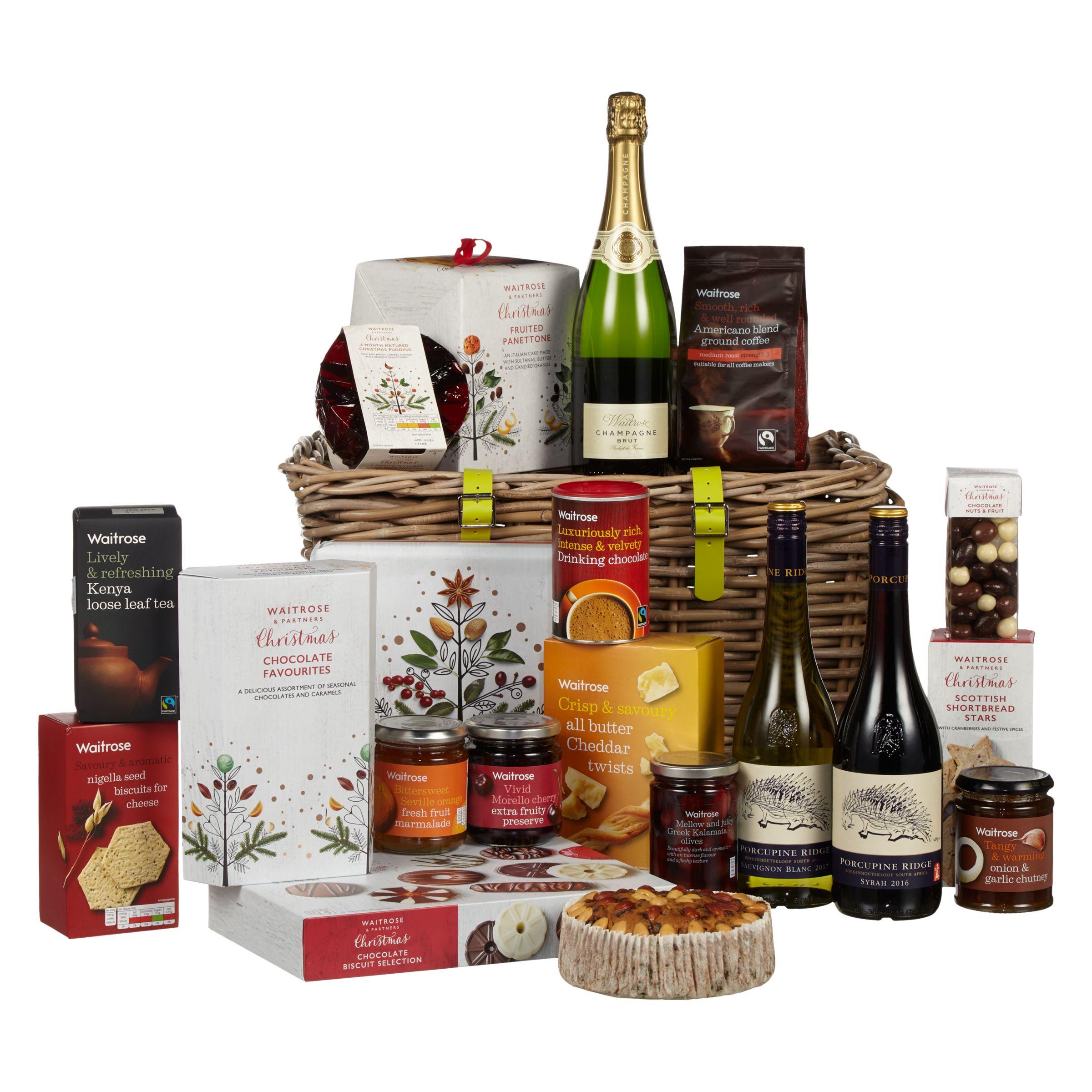 Waitrose Partners Luxury Christmas Kubu Basket Hamper At John Lewis Partners