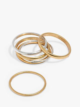 Madewell Stacking Rings Set, Gold/Silver