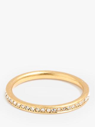 Madewell Pave Ring, Vintage Gold