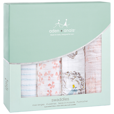 Image of aden + anais Baby Birdsong Swaddle Blanket, Pack of 4