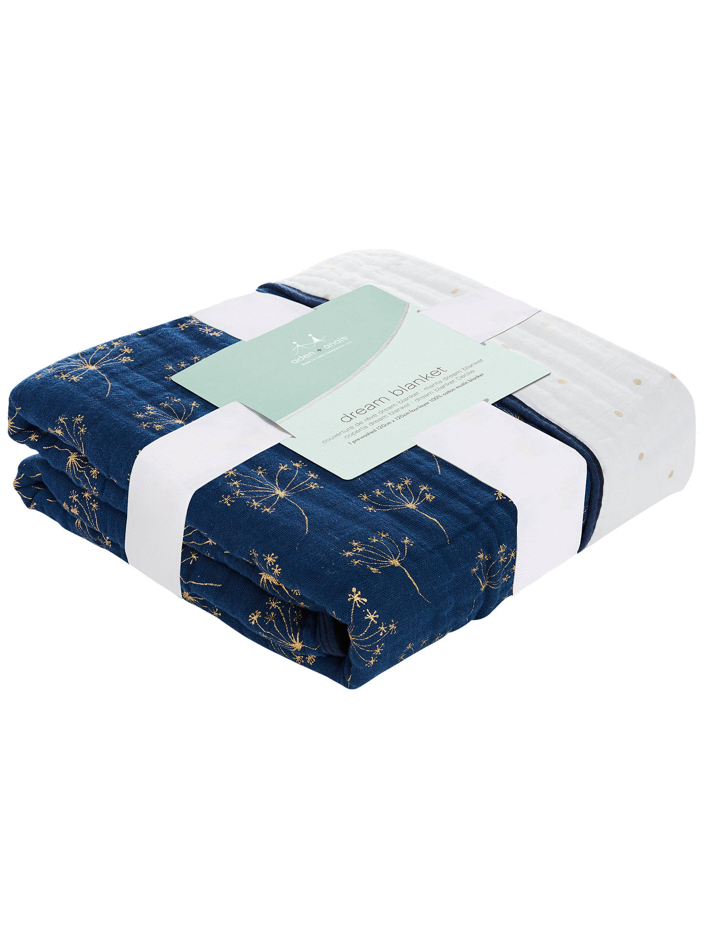 Buy aden + anais Dream Blanket, Gold Deco Online at johnlewis.com