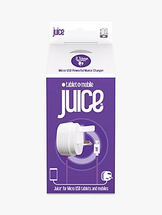 Juice Power Delivery Plug to Micro USB, 2.1 Amp, Purple