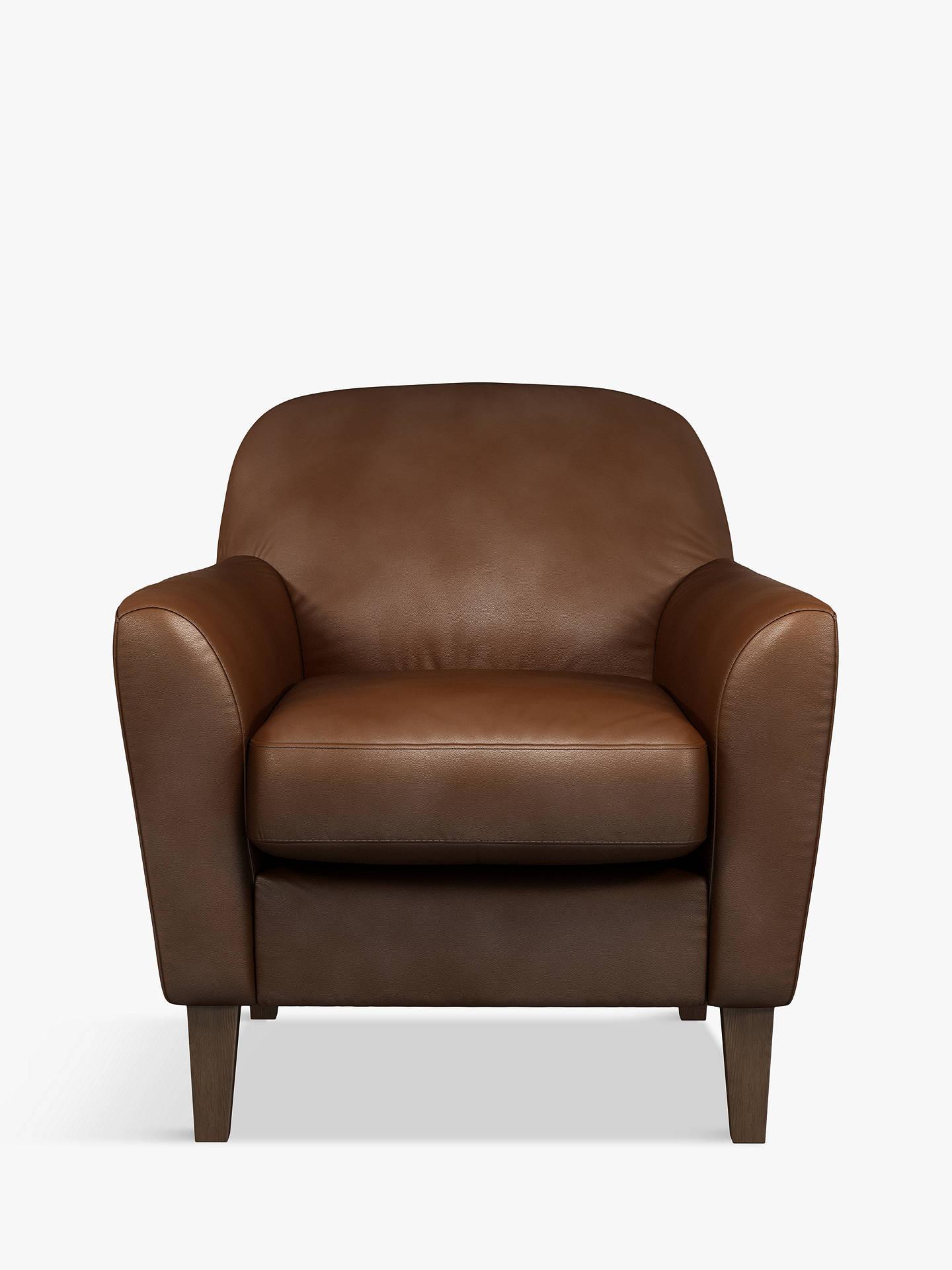 Tremendous John Lewis Partners Connor Leather Armchair Dark Leg Contempo Castanga Inzonedesignstudio Interior Chair Design Inzonedesignstudiocom