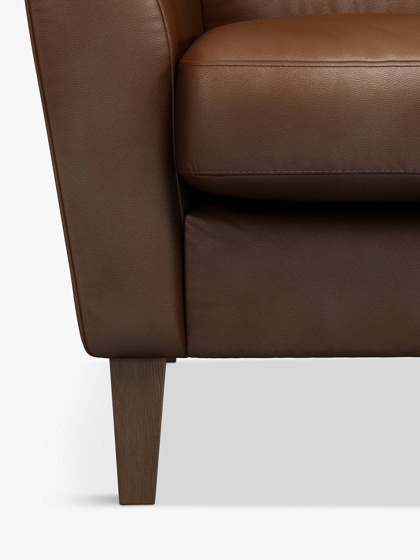 Swell John Lewis Partners Connor Leather Armchair Dark Leg Contempo Castanga Inzonedesignstudio Interior Chair Design Inzonedesignstudiocom