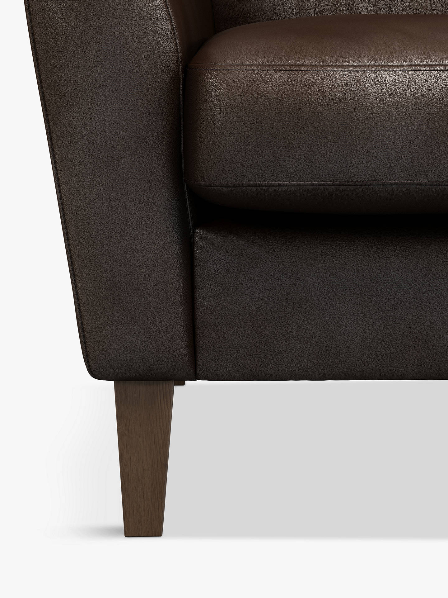 Buy John Lewis & Partners Connor Leather Armchair, Dark Leg, Nature Brown Online at johnlewis.com