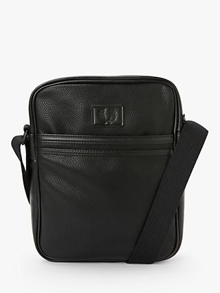 Fred Perry Tumbled Side Bag, Black