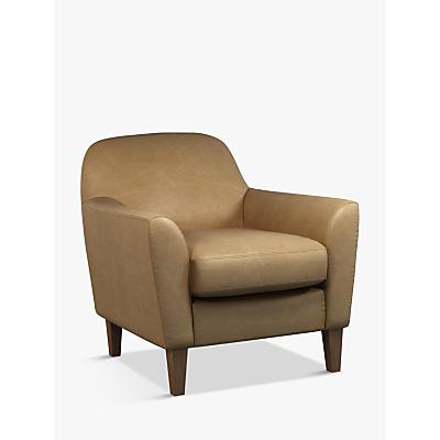 John Lewis & Partners Connor Leather Armchair, Dark Leg