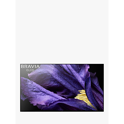 Sony Bravia KD65AF9 OLED HDR 4K Ultra HD Smart Android TV, 65 with Freeview HD, Youview & Acoustic Surface Audio+, Black