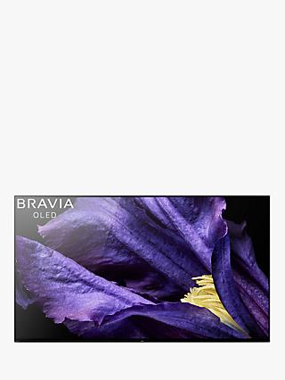 "Sony Bravia KD65AF9 OLED HDR 4K Ultra HD Smart Android TV, 65"" with Freeview HD, Youview & Acoustic Surface Audio+, Black"