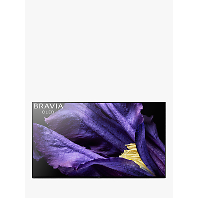Sony Bravia KD55AF9 OLED HDR 4K Ultra HD Smart Android TV, 55 with Freeview HD, Youview & Acoustic Surface Audio+, Black