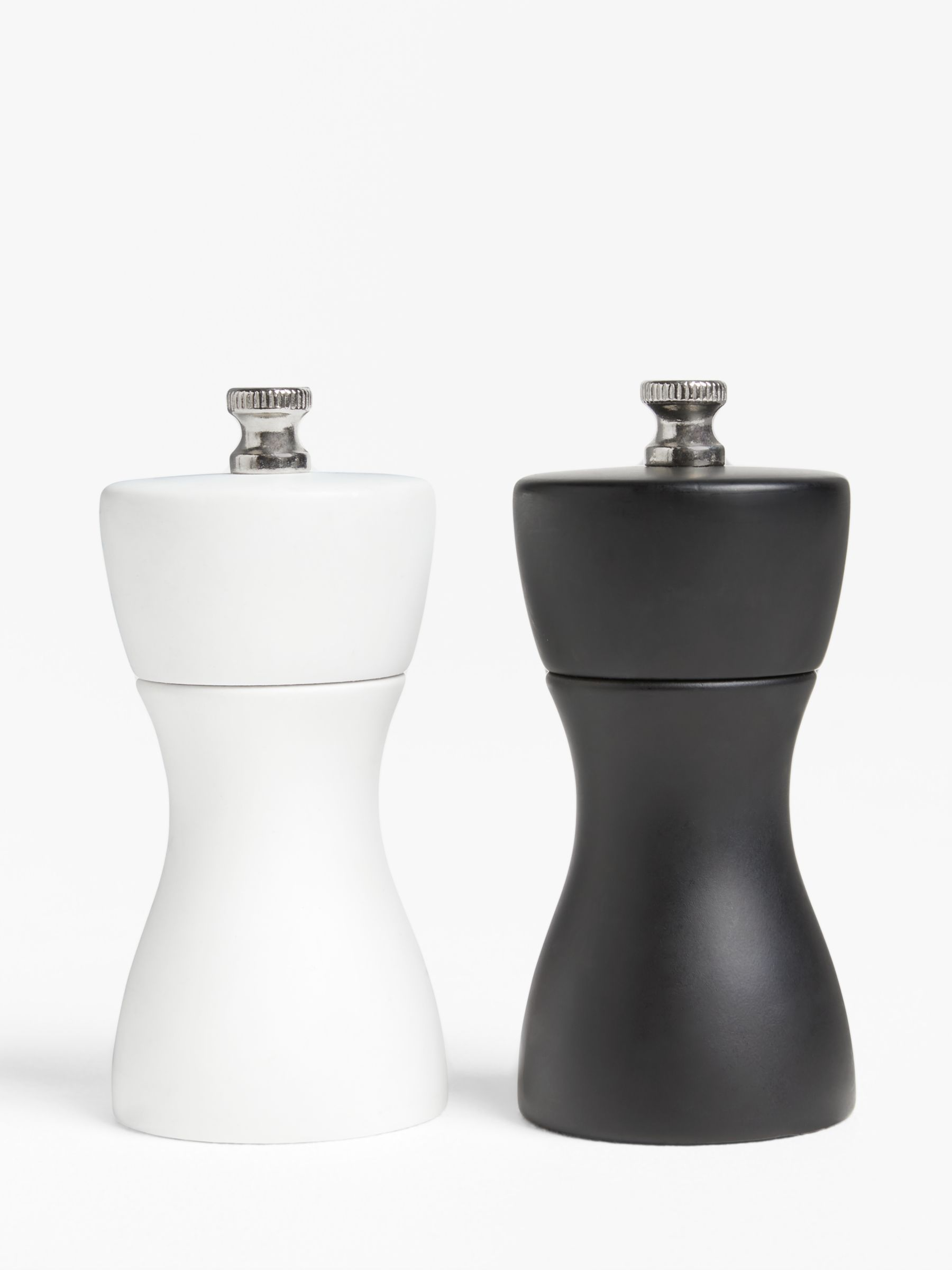 John Lewis Partners Mini Salt And Pepper Mills Set Of 2 Black White At John Lewis Partners