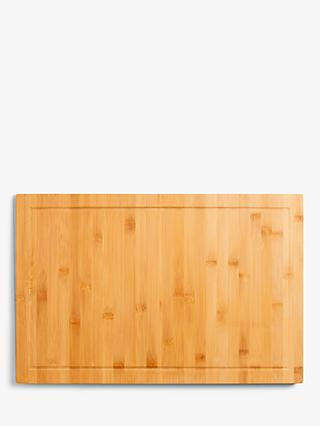 House By John Lewis Bamboo Chopping Board Worktop Overlay L58cm