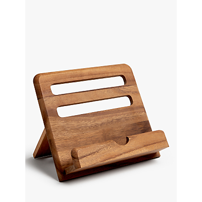 John Lewis & Partners Acacia Wood Small Cookbook Stand