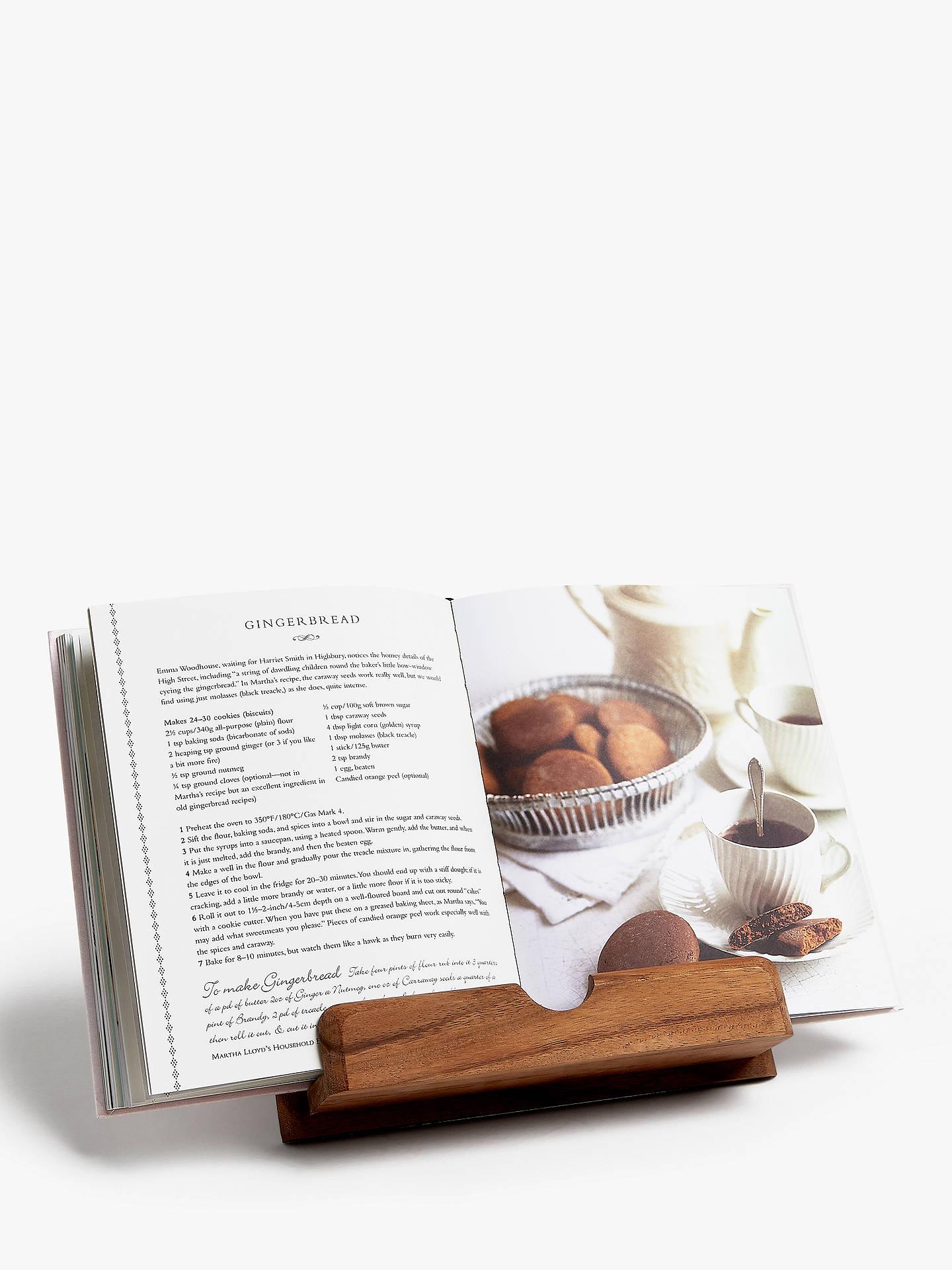 John Lewis Partners Acacia Wood Small Cookbook Stand
