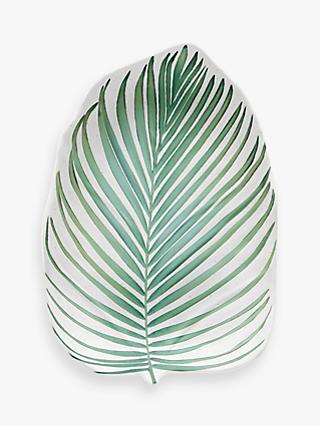 Eddingtons Tropical Leaf Melamine Salad Plate, L32cm, Green