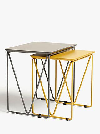 House By John Lewis Insert Nest Of 2 Tables Grey Mustard