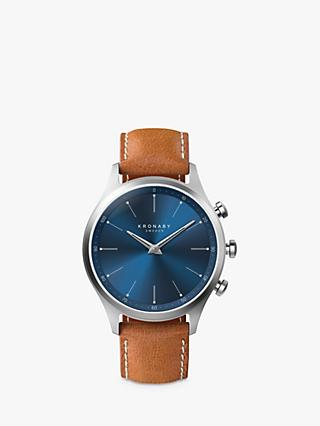 fb637bbd70b61 Kronaby Connected A1000-3124 Men s Sekel Leather Strap Smartwatch