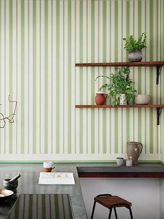Buy Cole & Son Jaspe Border Wallpaper, 110/10047 White Green & Emerald Online at johnlewis.com