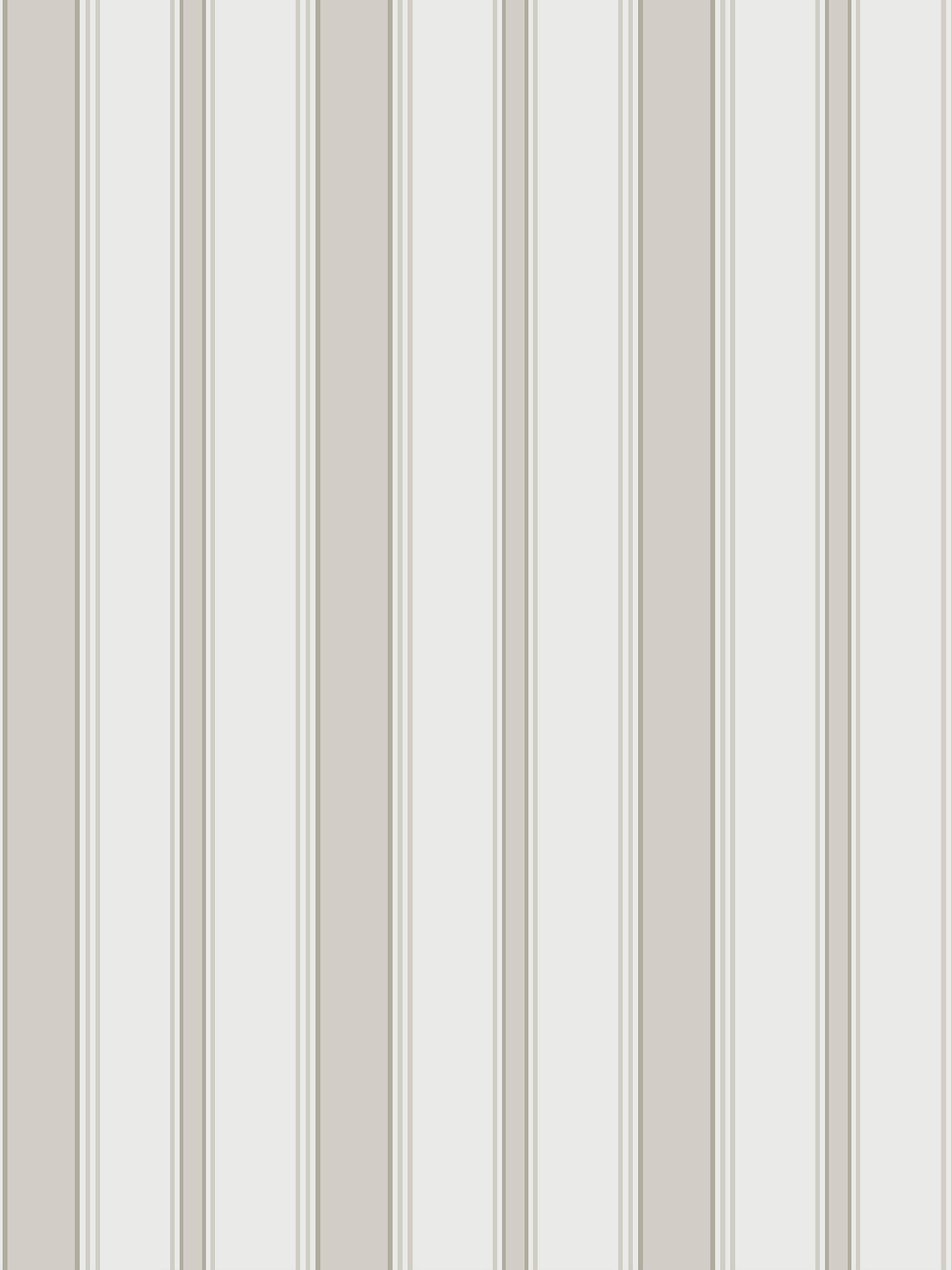 Buy Cole & Son Cambridge Stripe Wallpaper, 110/8040, Stone/White Online at johnlewis.com