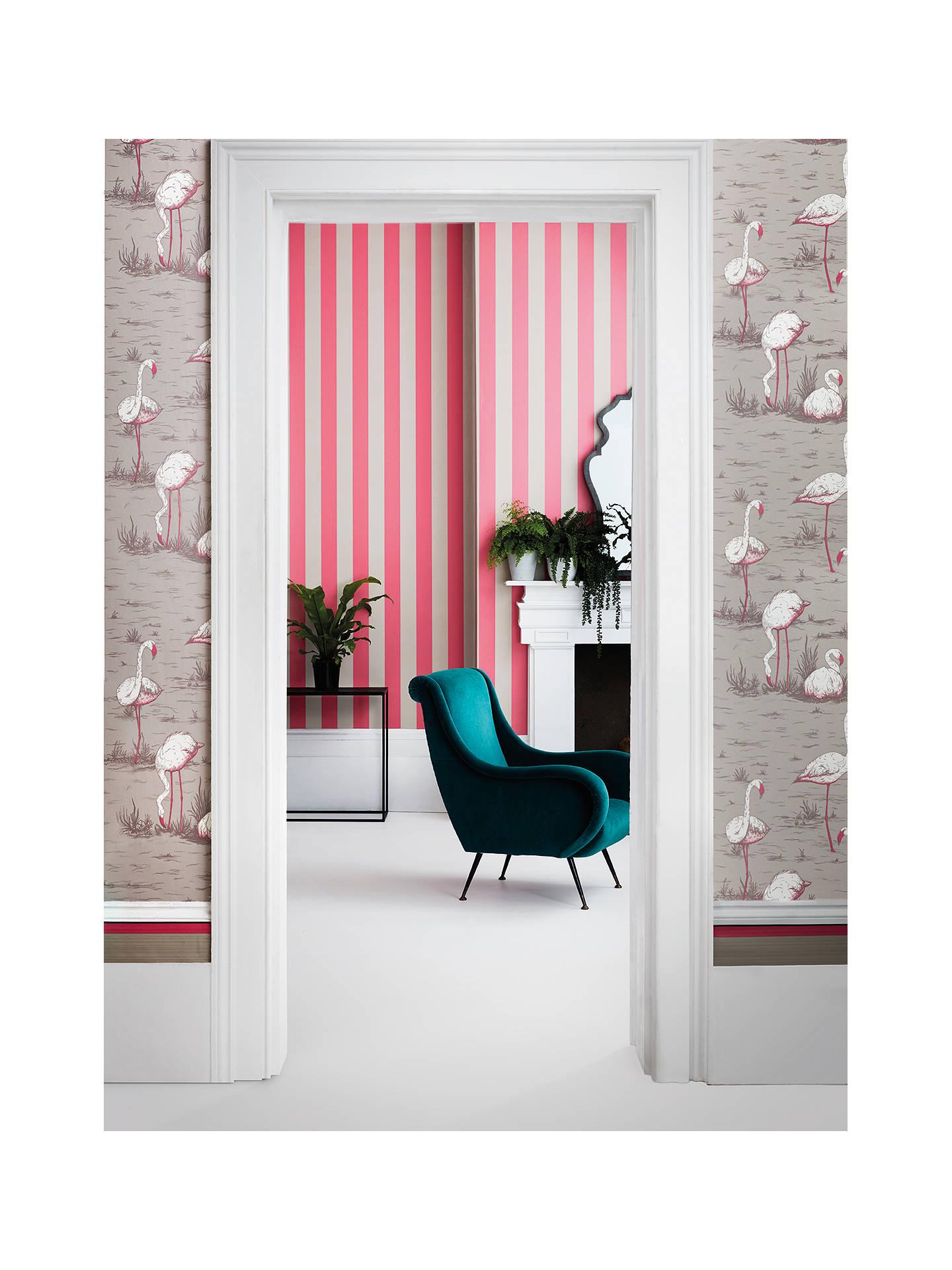 Cole Son Glastonbury Stripe Wallpaper 110 6031 Pink Linen