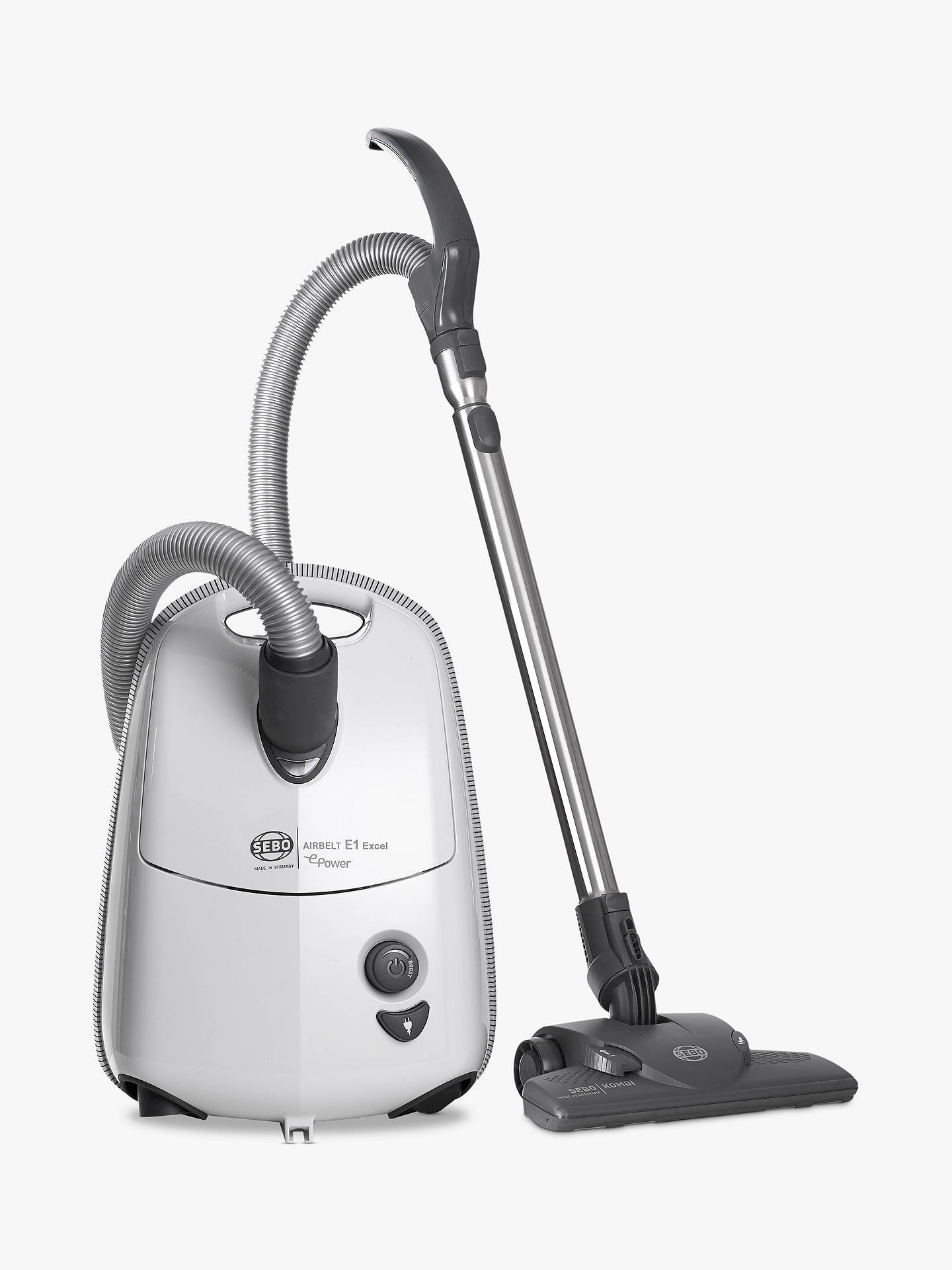 BuySEBO Airbelt E1 Excel ePower Vacuum Cleaner, White Online at johnlewis.com