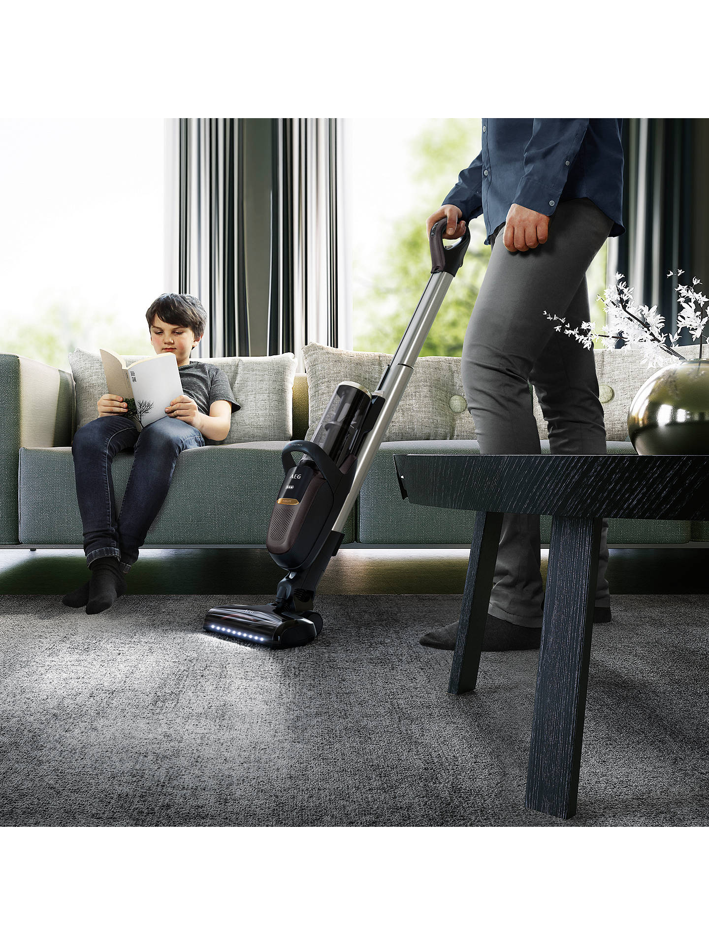 BuyAEG FX9 Ultimate Cordless Vacuum Cleaner, Iron Grey Online at johnlewis.com