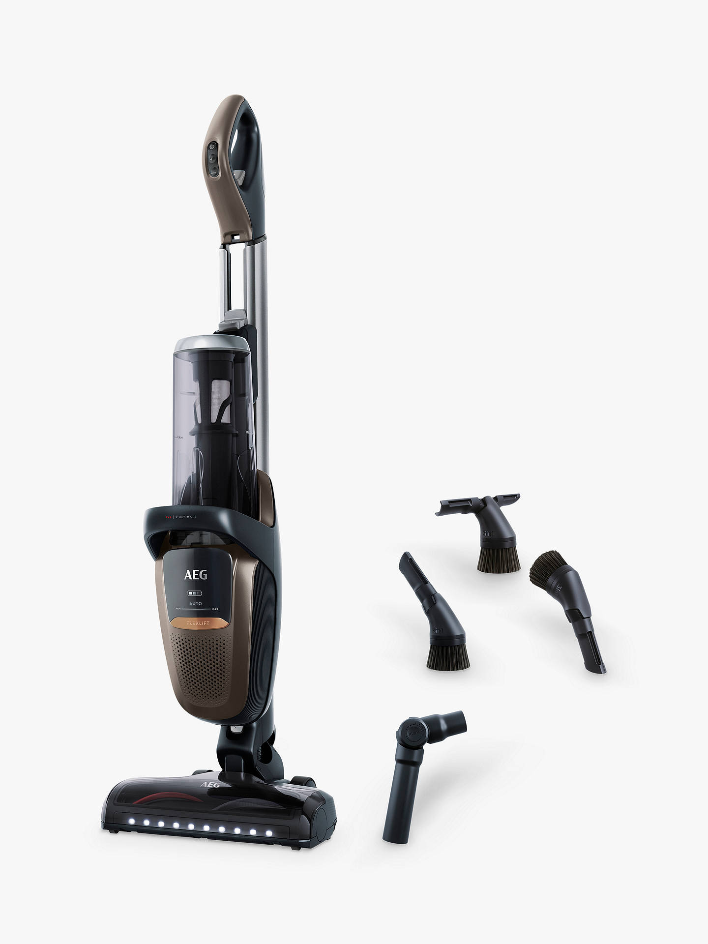 Buy AEG FX9 Ultimate Reach Cordless Vacuum Cleaner, Mahogany Bronze Online at johnlewis.com