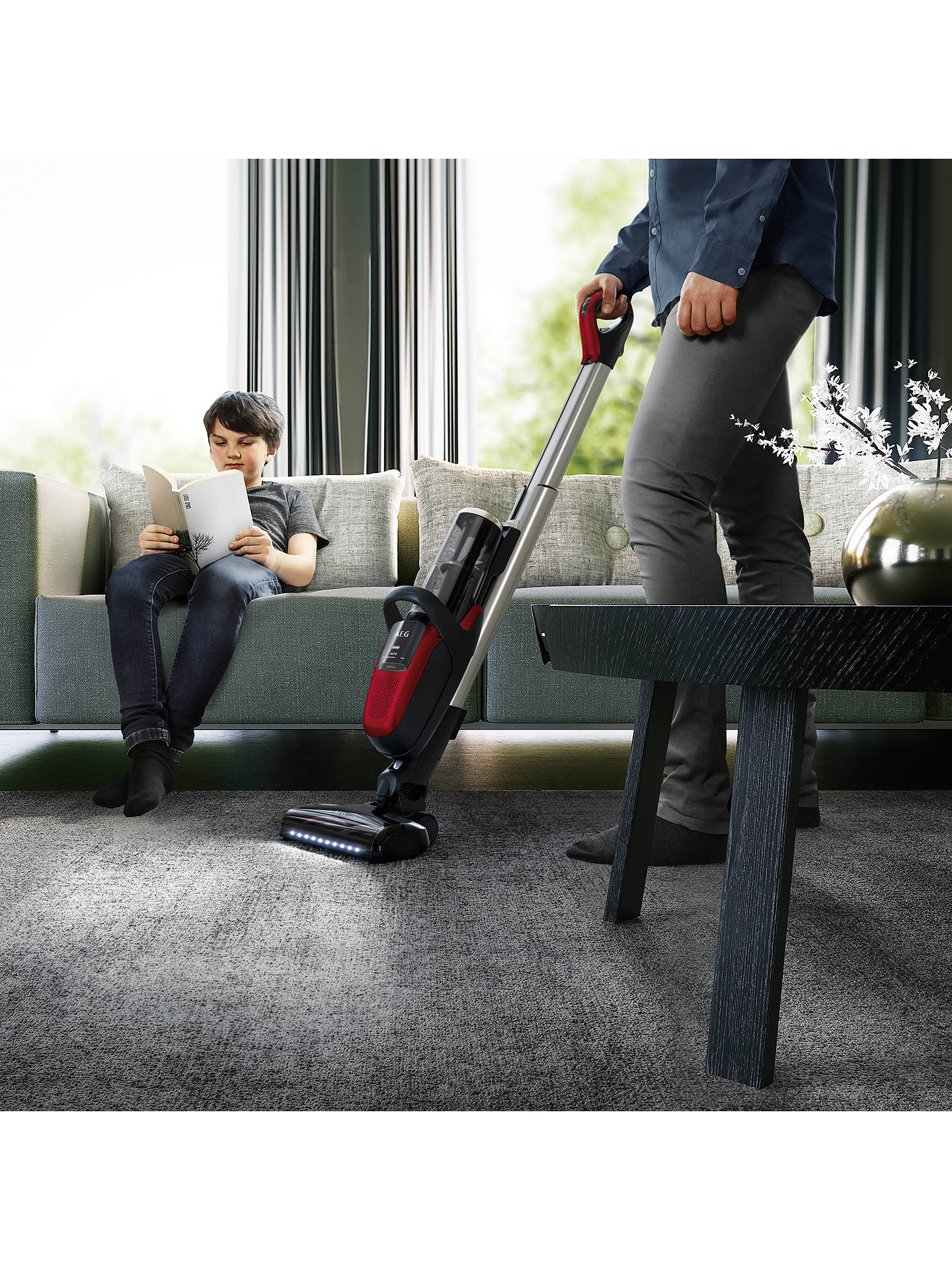 BuyAEG FX9 Ultimate Pet Cordless Vacuum Cleaner, Chilli Red Online at johnlewis.com