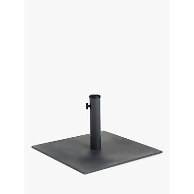 John Lewis & Partners Parasol Flat Base Weight, Grey, 25kg