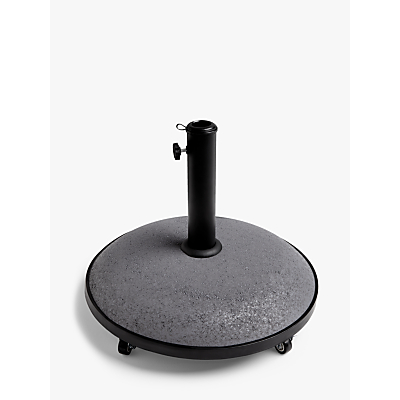 John Lewis & Partners Parasol Base Weight with Wheels, Black, 30kg