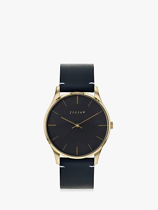 Jigsaw Women's Portman Leather Strap Watch
