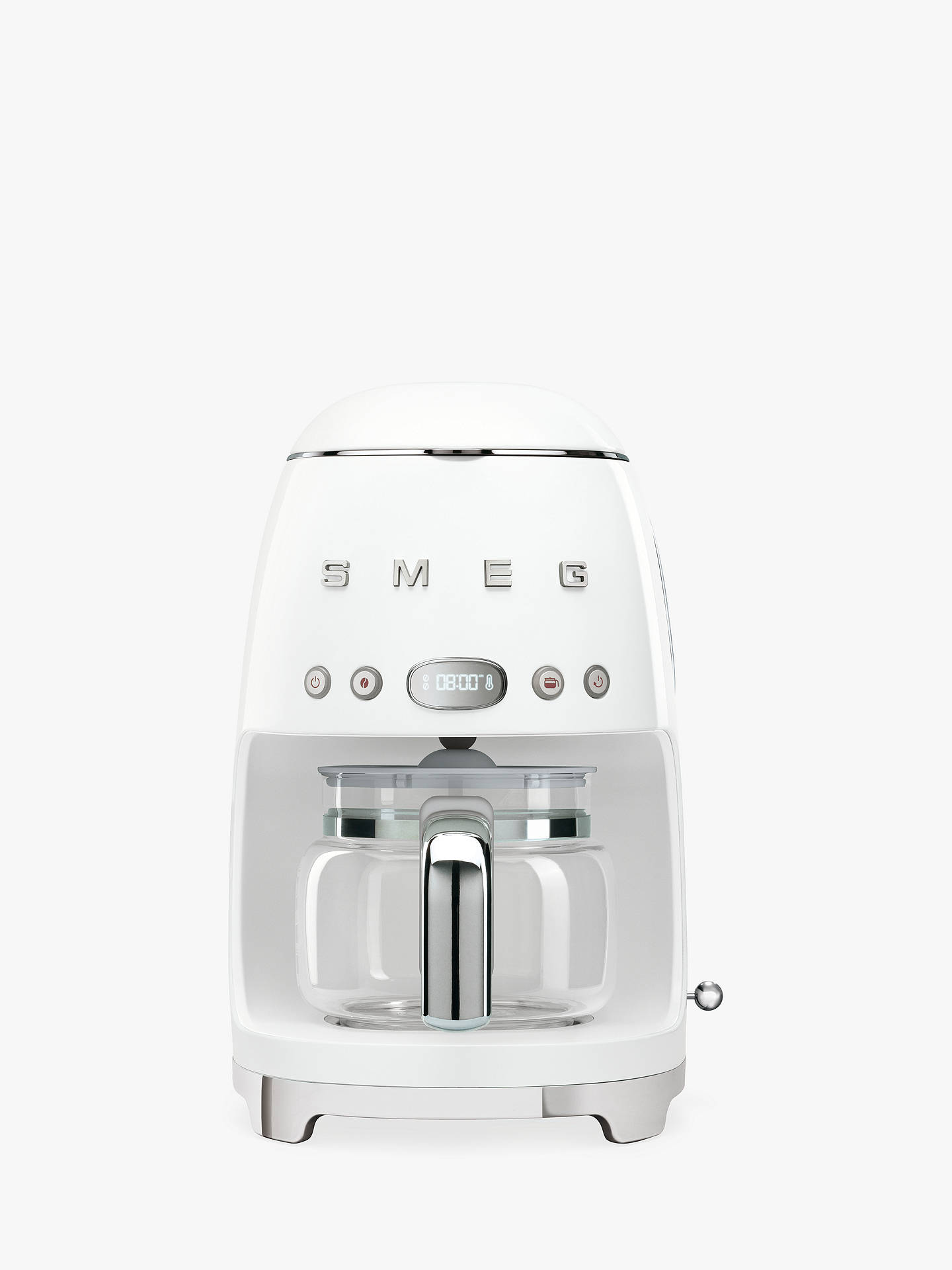 Smeg Dcf01 Drip Filter Coffee Machine White