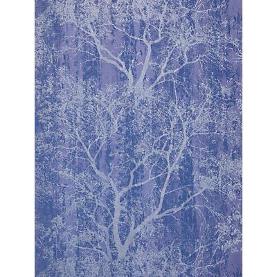 Image of John Lewis & Partners Plaster Texture Wallpaper, Navy