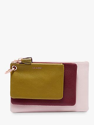 Ted Baker Marioon Leather Triple Pouch Purse, Multi