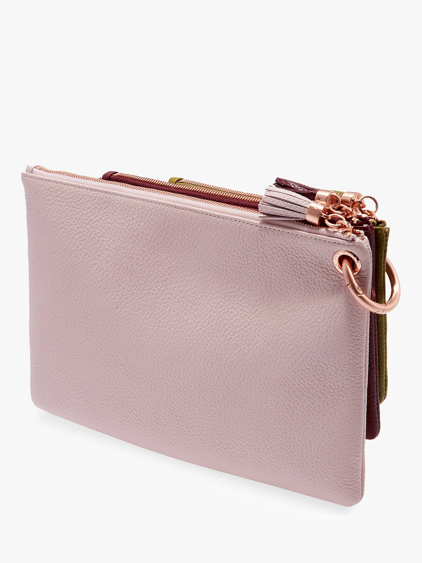 Buy Ted Baker Marioon Leather Triple Pouch Purse, Multi Online at johnlewis.com