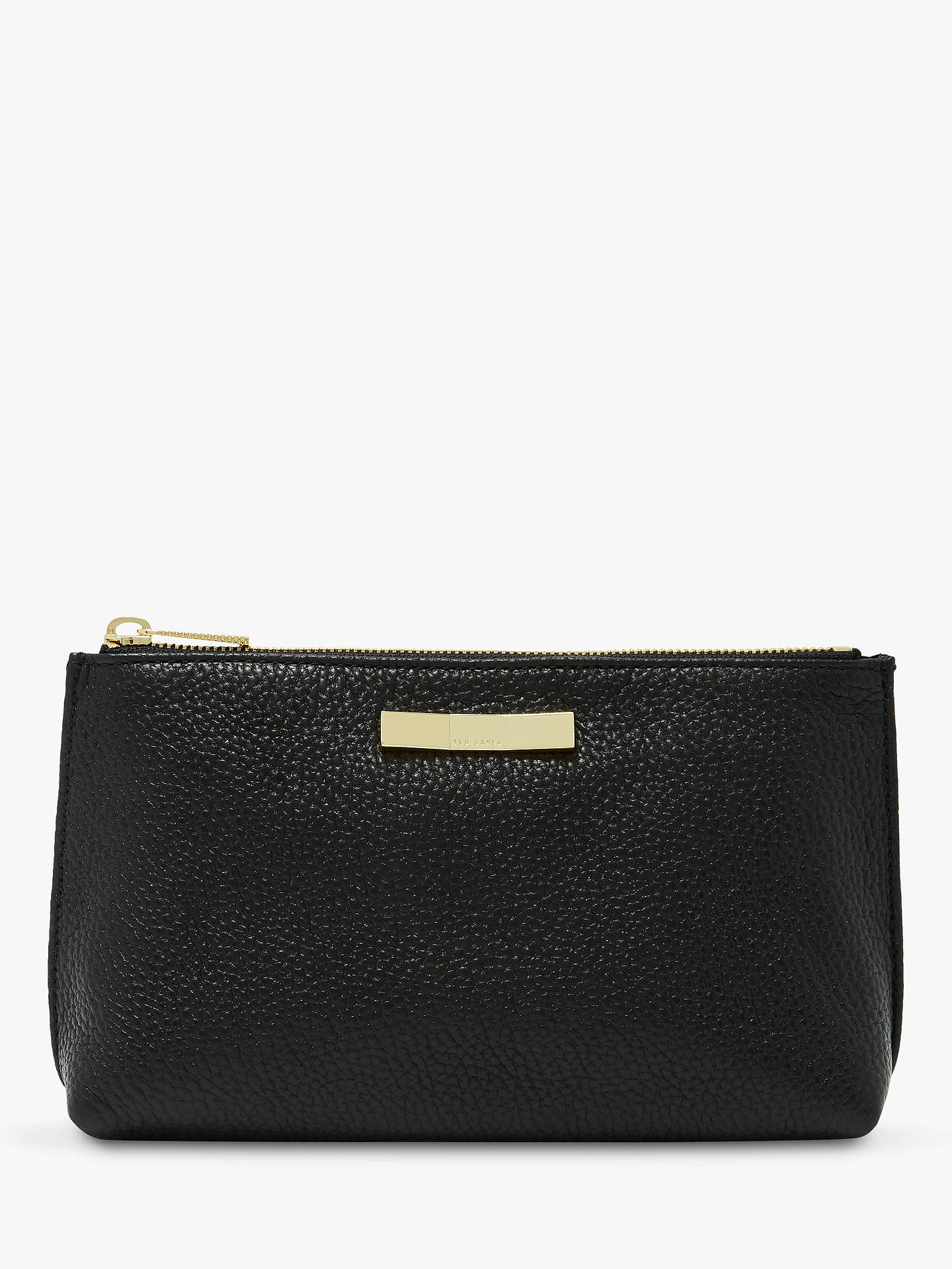 Buy Ted Baker Iccolade Leather Wash Bag, Black Online at johnlewis.com