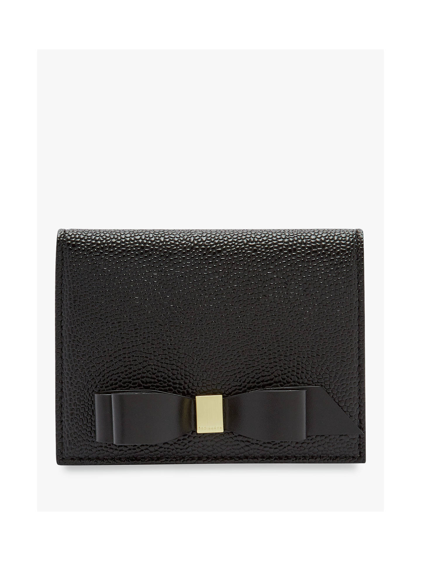 110f3ed537f Buy Ted Baker Elodiey Leather Small Purse, Black Online at johnlewis.com ...