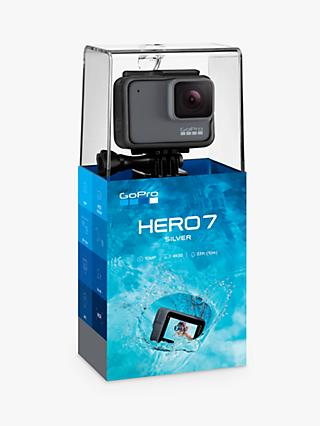 GoPro HERO7 Silver Camcorder, 4K Ultra HD, 30 FPS, 10MP, Wi-Fi, Waterproof, GPS