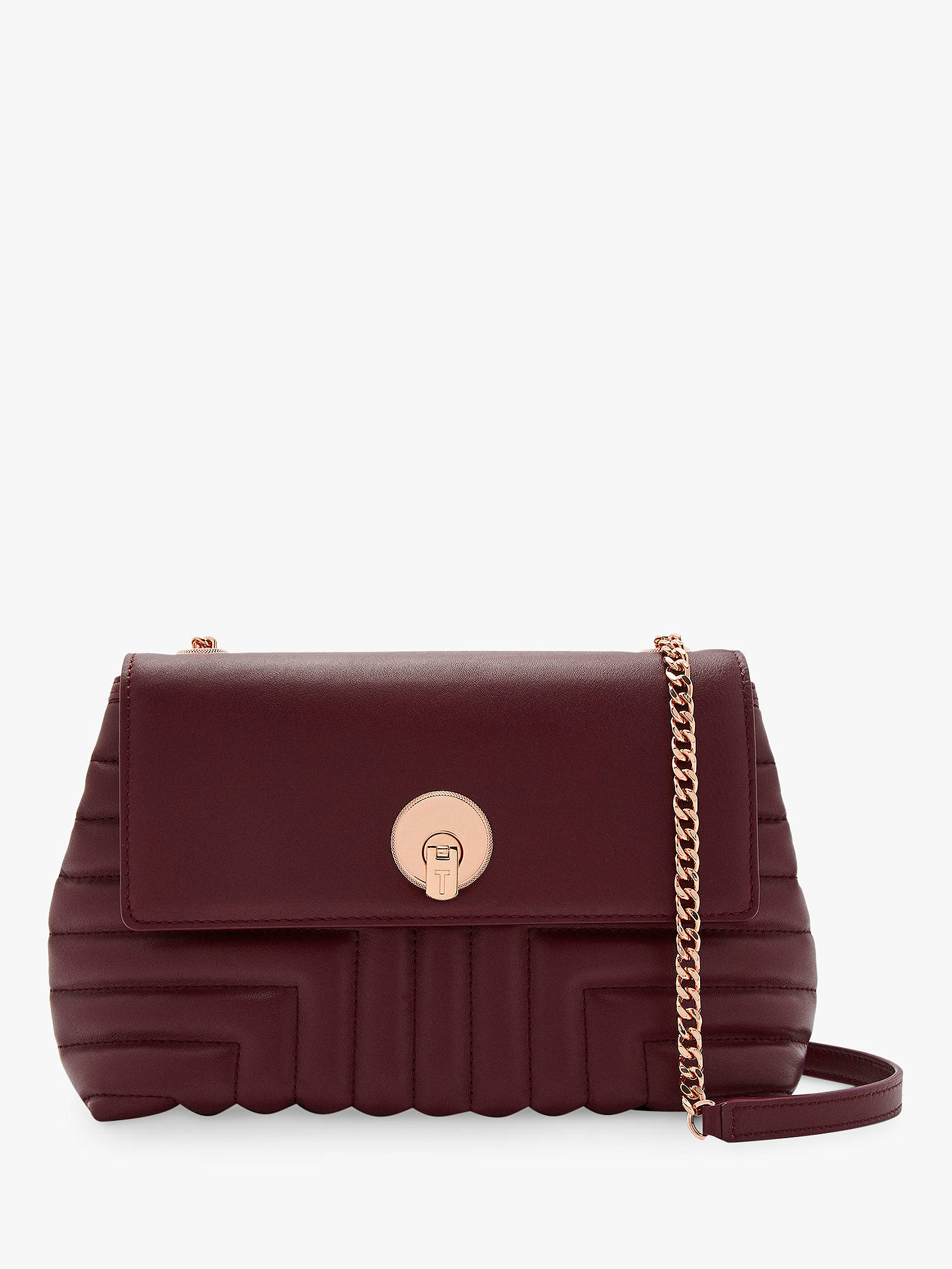 d6672e1c9 Ted Baker Ssusiee Qulited Leather Cross Body Bag at John Lewis ...