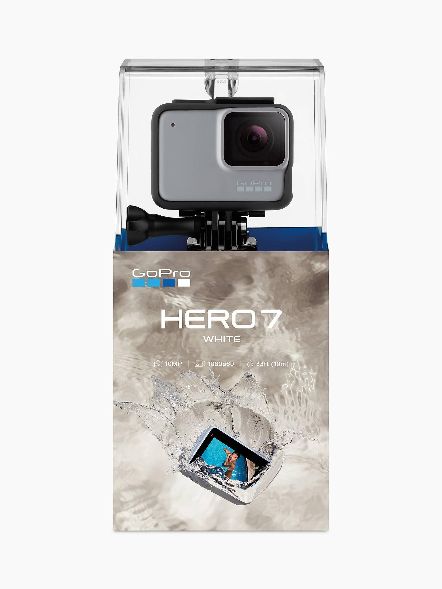 GoPro HERO7 White Camcorder, 1440p, Full HD, 10MP, Wi-Fi, Waterproof