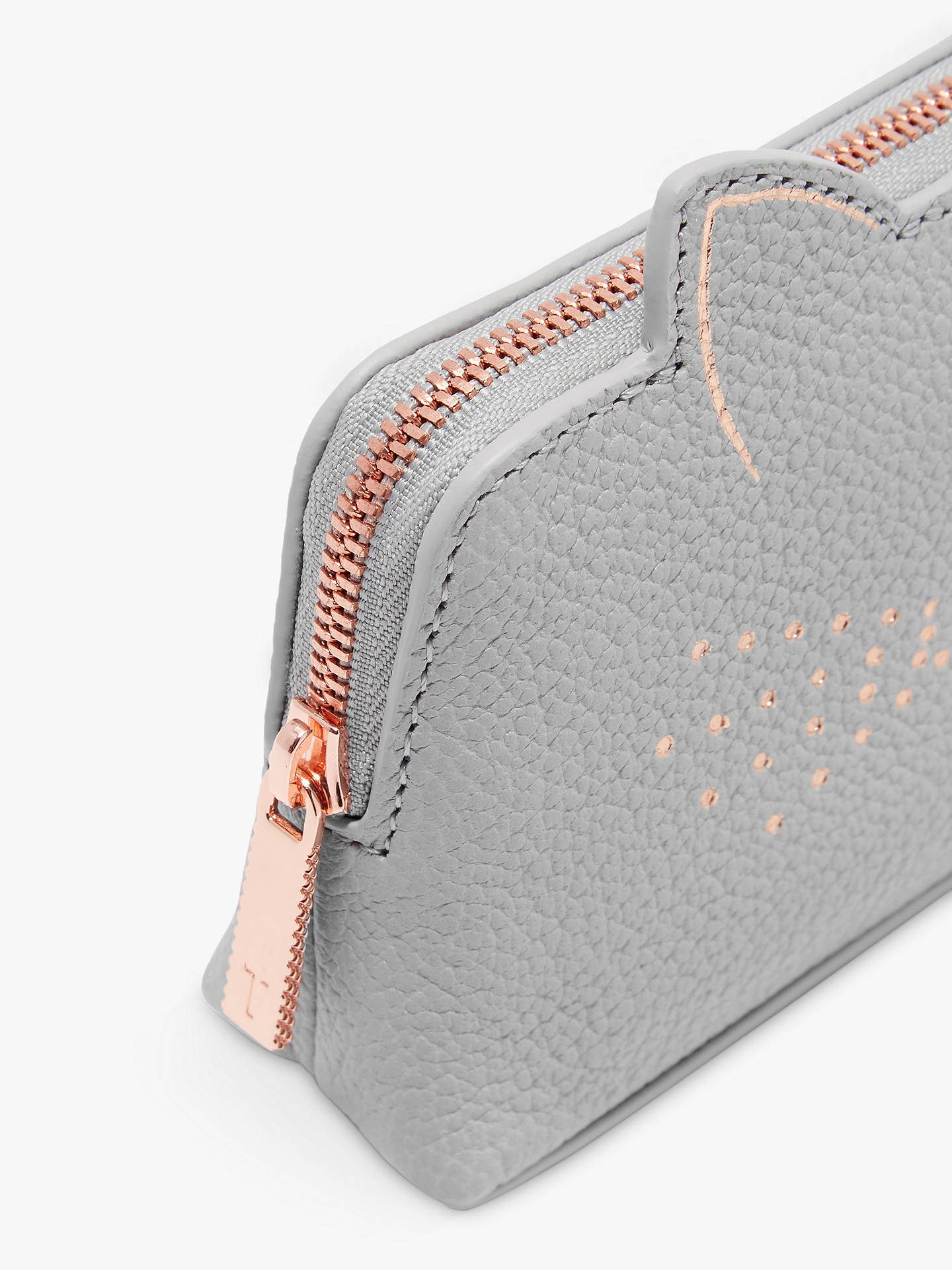 BuyTed Baker Oohan Cat Whiskers Leather Make Up Bag, Mid Grey Online at johnlewis.com