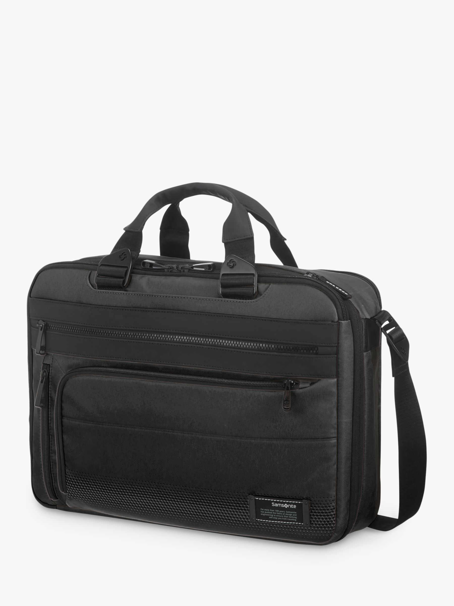 Samsonite Samsonite Cityvibe 2.0 3-Way 15.6 Laptop Expandable Work Bag, Jet Black