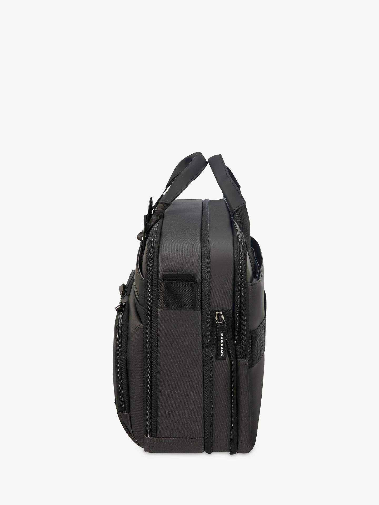"BuySamsonite Cityvibe 2.0 15.6"" Laptop Bail Handle Briefcase, Jet Black Online at johnlewis.com"